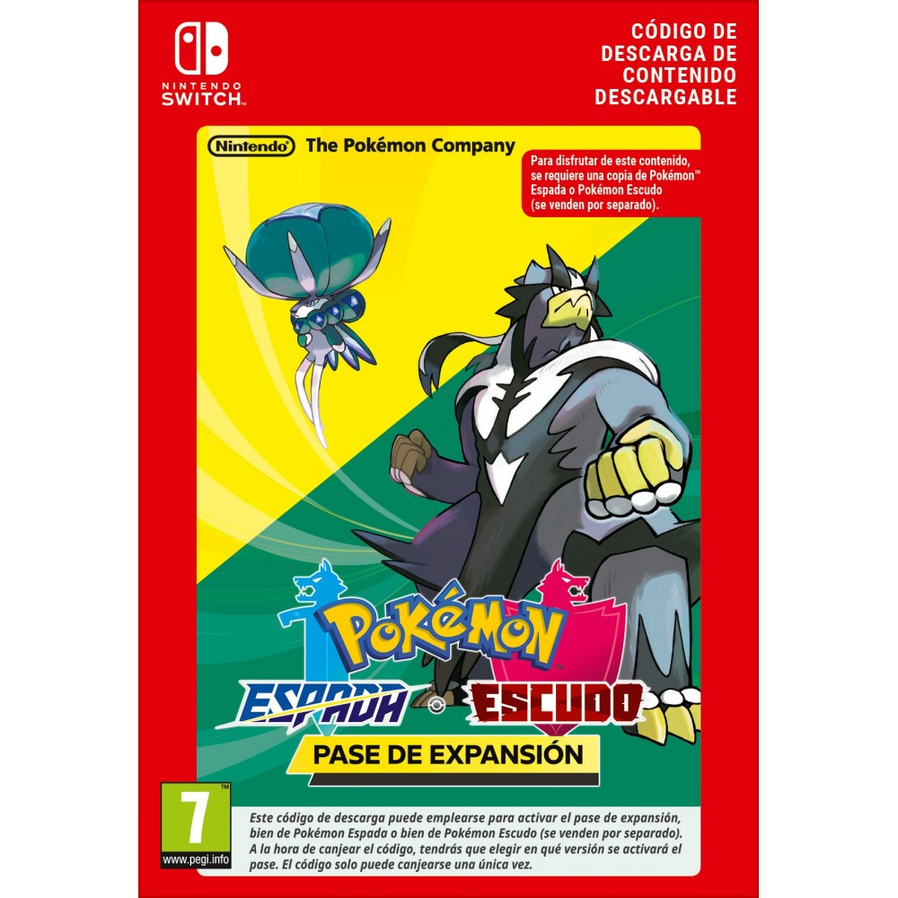 POKEMON ESPADA O POKEMON ESCUDO PASE DE EXPANSIÓN DESCARGA DIGITAL NINTENDO SWITCH