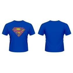 CAMISETA SUPERMAN AZUL LOGO GASTADO XXL CAMISETAS MANGA / COMICS