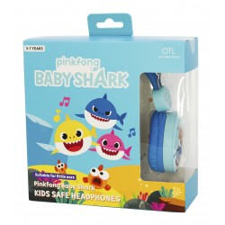 AURICULARES INFANTILES BABY SHARK CON VOLUMEN LIMITADO PARA NIÑOS DE 3 A 7 AÑOS