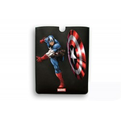FUNDA PIEL IPAD AIR DELUXE LEATHER SLEEVE MARVEL CAPITAN AMERICA HEROES