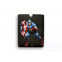 FUNDA PIEL IPAD MINI DELUXE LEATHER SLEEVE MARVEL CAPITAN AMERICA HEROES