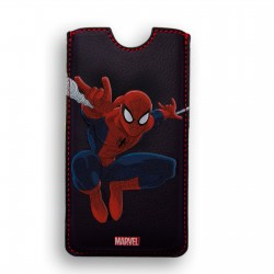 FUNDA PIEL IPHONE 4 DELUXE LEATHER SLEEVE MARVEL SPIDERMAN HEROES