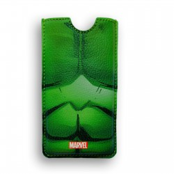 FUNDA PIEL IPHONE 5 DELUXE LEATHER SLEEVE MARVEL HULK ARMOR