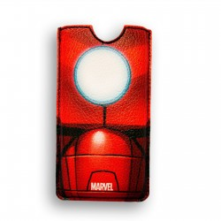 FUNDA PIEL IPHONE 5 DELUXE LEATHER SLEEVE MARVEL IRON MAN ARMOR