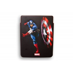 FUNDA RIGIDA PIEL IPAD 2-3 DELUXE LEATHER CASE MARVEL CAPITAN AMERICA HEROES