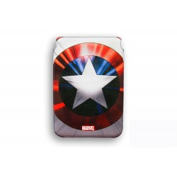 FUNDA RIGIDA PIEL IPAD AIR DELUXE LEATHER CASE MARVEL CAPITAN AMERICA ESCUDO