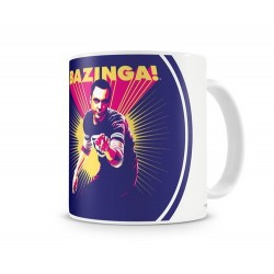 TAZA BIG BANG THEORY SHELDON SAYS BAZINGA TAZAS CINE