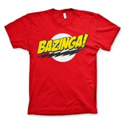CAMISETA BIG BANG THEORY BAZINGA XXL CAMISETAS SERIES TV