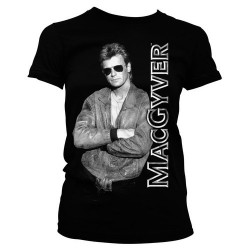 CAMISETA MACGYVER NEGRA XL CAMISETAS SERIES TV