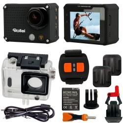 VIDEOCÁMARA ROLLEI AC 420 NEGRA WIFI SUMERGIBLE 4K 2K FULL HD MANDO + PANTALLA