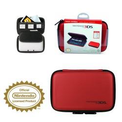 DSI™ DSIXL™ 3DS™ 3DSXL™ ESTUCHE ROJO PARA CONSOLA Y JUEGOS