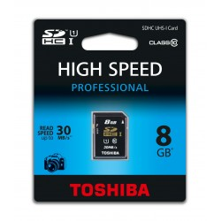 SD TOSHIBA 8GB UHS BLACK
