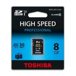 SD TOSHIBA 8GB UHS BLACK