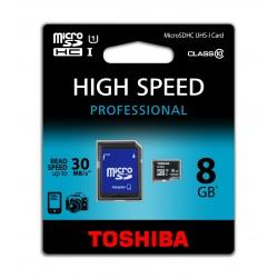 MicroSD TOSHIBA 8GB UHS-I C10 con ADAPTADOR