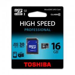 MicroSD TOSHIBA 16GB UHS-I C10con ADAPTADOR