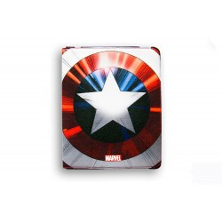 FUNDA SOLAPA PIEL IPAD AIR DELUXE LEATHER FLAP CASE MARVEL CAP AMERICA ESCUDO