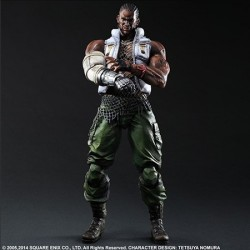 FIGURA PLAY ARTS FINAL FANTASY VII AC BARRET 28 CENTIMETROS FIGURAS VIDEOJUEGOS