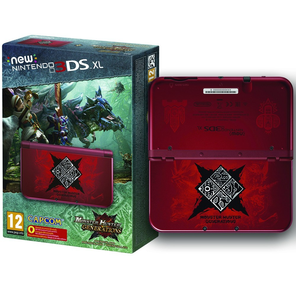 New Nintendo 3ds Xl Consola Juego Monster Hunter Generations