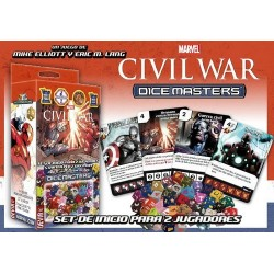 MARVEL DICE MASTERS CIVIL WAR - STARTER *ESP/ITA* JUEGOS DE MINIATURAS