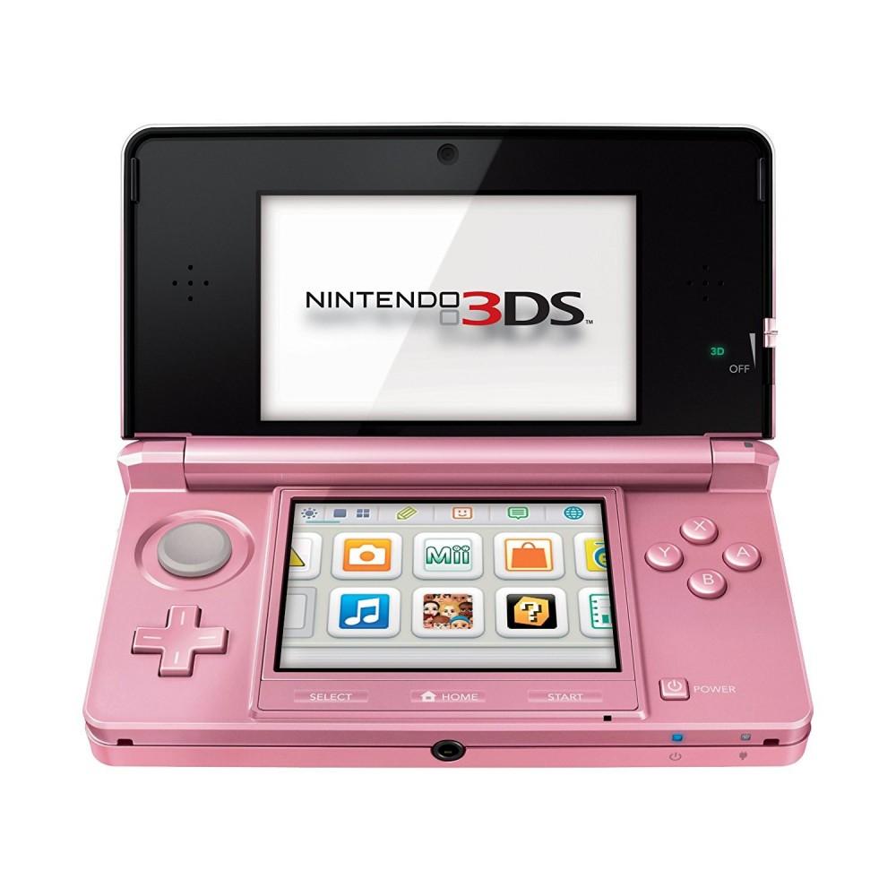 Consola Nintendo 3ds Rosa Coral Compatible Con Juegos Ds Y Dsi
